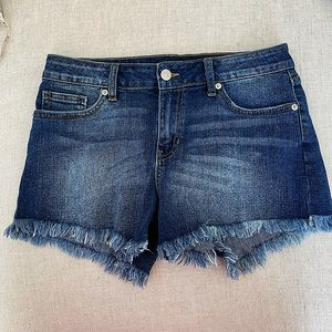 Just USA Distressed Jean shorts. Size 27